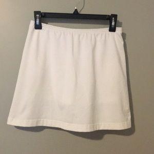 Small White Adidas tennis shirt with ball pockets